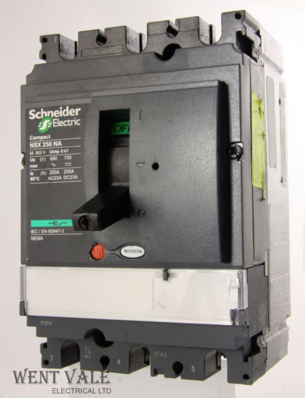 Schneider Compact - NSX250NA - 250amp Panel Board Switch Disconnector Used